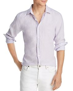 b5fc9ad8f9 THE MEN S STORE AT BLOOMINGDALE S THE MEN S STORE AT BLOOMINGDALE S LINEN REGULAR  FIT BUTTON-DOWN