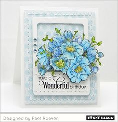 Card design featuring stamps and dies from Penny Black. Download complete supplies and instructions on our blog.