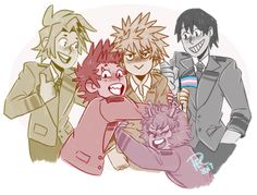 the Bakusquad loves Bakugou no matter what also this is probably one of the only times he let(s) the others shower him in love and affection