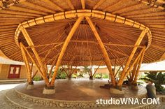 Studio WNA is an architecture consultant in Bali Indonesia. This consultant is not only focus in architecture design, but also in product design and interior Bamboo Architecture, Amazing Architecture, Architecture Design, Bamboo House Design, Tiny House Design, Pergola Shade, Diy Pergola, Bamboo Building, Tea Lounge