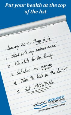 Put your #health at the top of your #todolist in 2014!