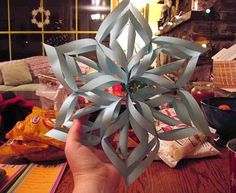 Recycling Paper and Making Snowflakes, Winter Craft Ideas for Kids and Adults