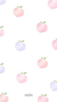iPhone wallpaper design • peach •
