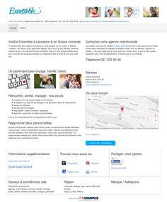 Institut Ensemble, Lausanne, Vaud, recherche de partenaire, agence, matrimoniale
