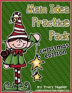 Main Idea Practice Pack (Christmas Edition) FREE! 3 passages
