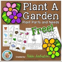 Plant A Garden: Science and Writing This freebie contains a cut and paste sheet for plant parts, a cut and paste for plant needs, two garden/plant picture dictionary pages and a writing page. Kindergarten Lesson Plans, Teaching Science, Kindergarten Activities, Teaching Resources, Science Writing, Preschool Themes, Preschool Science, Seeds Preschool, Teaching Ideas