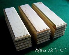 """15 Piece 3.5"""" x 13"""" Crafters Unfinished Wood Plaques Signs Bases"""