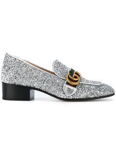 e40819da406b Gucci GG Web Glitter Loafers - Farfetch