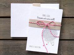 20x Hochzeitseinladung | recycling von Ökotussi-Papierwaren auf DaWanda.com