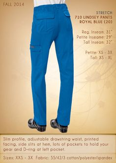710 STRETCH LINDSEY Pants | 710-20 (Royal Blue)