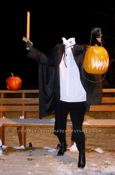 Cool Homemade Headless Horseman Adult Costume... Enter the Coolest Halloween Costume Contest at http://ideas.coolest-homemade-costumes.com/submit/
