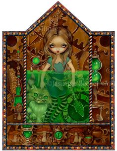 Alice in Absinthe - Strangeling: The Art of Jasmine Becket-Griffith