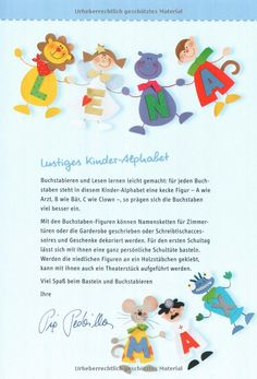 Lustiges Kinder-Alphabet: