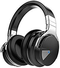 COWIN Active Noise Cancelling Bluetooth Headphones with Microphone Hi-Fi Deep Bass Wireless Headphones Over Ear, Comfortable Protein Earpads, Playtime for Travel Work TV Computer Iphone - Black: Electronics Best Bass Headphones, Headphones With Microphone, Headphone With Mic, Bluetooth Headphones, Wireless Headphones, Over Ear Headphones, Cheap Headphones, Smartwatch, Speakers