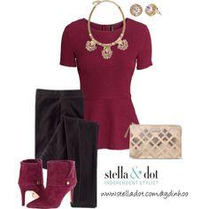 """burgundy & blush - Stella & Dot"" by aydinjane on Polyvore"