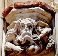 Gargoyle, St.Cecile Cathedral, Albi, France Statues, Gothic Gargoyles, Sculptures, Lion Sculpture, Romanesque, Green Man, Dragons, Ornament, France