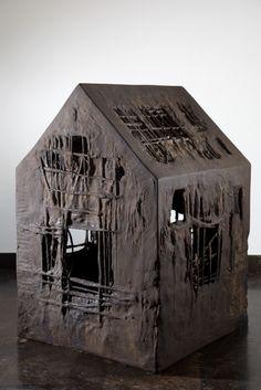 Home Sweet Home - Casa Dolce Casa - 2009 - mix media Sasha Vinci sculptures plastic arts, visual arts, fine art