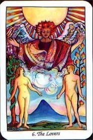 The Lovers - Illuminated Tarot- Carol Herzer - self published