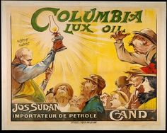 Columbia lux oil :Jos. Sudan, importateur de pétrole, Gand (Commercial & advertising posters Belgium Ghent) #Booktower