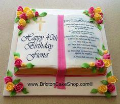 Grandma Birthday Cakes, Adult Birthday Cakes, Fondant Cakes, Cupcake Cakes, Cupcakes, Beautiful Cakes, Amazing Cakes, Happy Birthday Pastor, Bible Cake