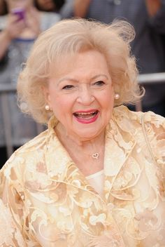 Betty White......she is doing her thing!! Loved her on The Golden Girls & Mary Tyler Moore show