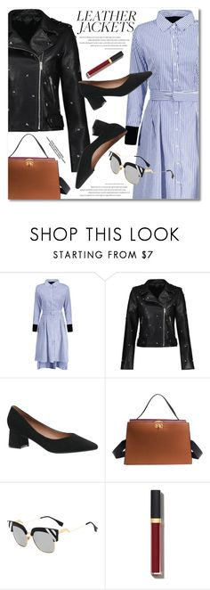 """Cool-Girl Style: Leather Jackets"" by fshionme ❤ liked on Polyvore featuring Chanel and leatherjackets"