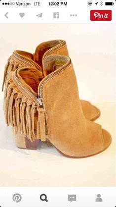 Fringe Peep-Toe Bootie- i'm not much the shoe gal, but these are fun Hippie Style, Looks Style, Style Me, Cute Shoes, Me Too Shoes, Bootie Boots, Shoe Boots, Peep Toes, Over Boots