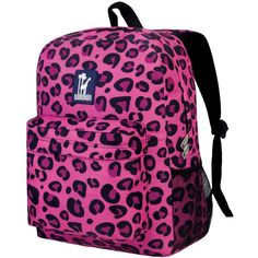 Wildkin Pink Leopard Crackerjack Backpack ($25) ❤ liked on Polyvore featuring bags, backpacks, backpack, leopard print bag, leopard print backpack, pink duffle bag and pink backpack