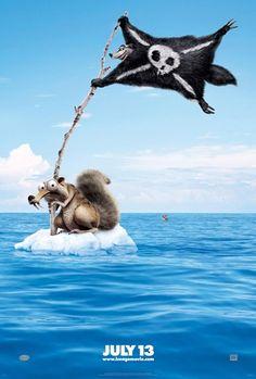 De Cuentos y de Galletas: Vuelve Scrat en Ice Age 4... y esta vez la lía parda!!!