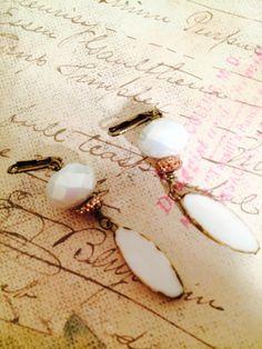 White Queen Earrings by GemJelly on Etsy https://www.etsy.com/listing/231086654/white-queen-earrings