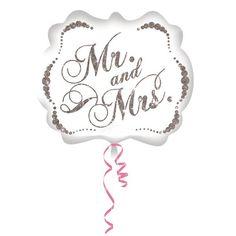 Folienballon mit Mr and Mrs Schriftzug als ausgefallene Raumdeko für die Hochzeit