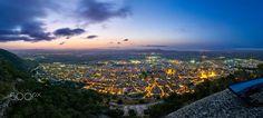 Xàtiva nightfall - La ciudad de Xàtiva (Valencia) desde el castillo al anochecer