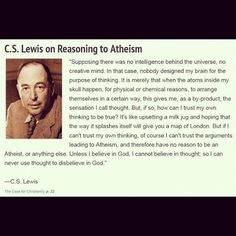 C.S. Lewis on Reasoning to Atheism