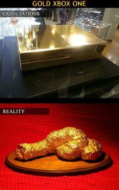 Gold Xbox One  - www.meme-lol.com