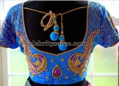 Peacock Work Designer Blouses | Saree Blouse Patterns