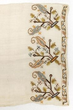 Embroidered Crimean Tatar or Ottoman Cover Textile. (item #1019429, detailed views)