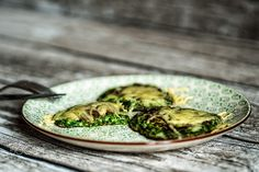 Pancake Day - spinach pancake with cheese