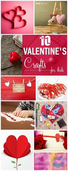 Valentines Manualidades para niños : Aquí están los diez mejores del día de ideas del arte de San Valentín que usted puede ayudar a su niño probar www.TangoJuntos.com