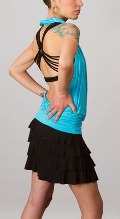 Cowl Front Open Back Halter Top in by paramitaflowdesigns on Etsy