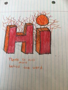 Hand drawn picture with words  By chase Pickford