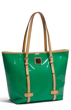 Dooney and Bourke green patent tote