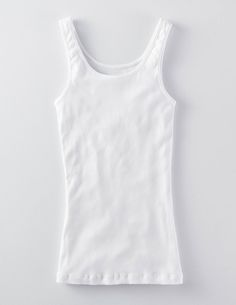 Browse our range of girls' tops & t-shirts at Boden. Pick comfy cotton tees for every day or shop fun tops with embellished designs sure to stand out. Our Girl, White Girls, Basic Tank Top, Girl Outfits, Vest, Slim, Competition, Tank Tops, Teacher's Pet