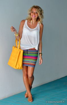 skirt, H Fashion against AIDS  sandals, Steve Madden  top, H