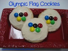 Olympic Activities for Kids - flag cookies