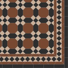 Original Style Warwick with modified Keats border - Master Bath floor