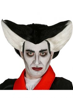 Adult Black and White Vampire Wig Fancy Dress Halloween Accessory Irish Fancy Dress, Fancy Dress Wigs, Adult Fancy Dress, Fancy Dress Outfits, Halloween Hair, Halloween Fancy Dress, Adult Halloween, Halloween Outfits, Halloween Costumes