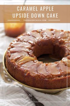 Caramel apple upside down cake apple coffee cakes, cupcake cakes, cake cookies, bundt Apple Desserts, Apple Recipes, Just Desserts, Delicious Desserts, Cake Recipes, Dessert Recipes, Crepes, Muffins, Apple Coffee Cakes