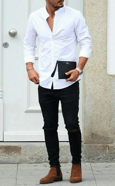 white-shirt-with-black-jeans
