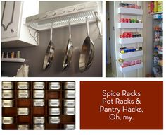 10 #DIY spice racks, pot racks, and pantry hacks!