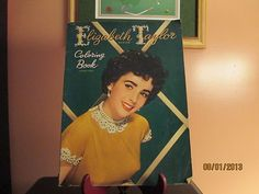 vintage Elizabeth Taylor coloring book from 1952 mostly pages uncolored